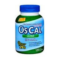 Os-Cal Ultra 600 + D Supplement With Vitamin D Caplets 120