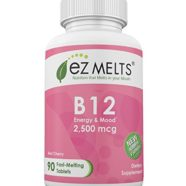 EZ Melts Vitamin B12, 2,500 mcg, Fast Melting Tablets, Energy Vitamin Supplement