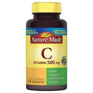 Nature Made Vitamin C Dietary Supplement Caplets, 500mg, 120 count