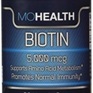 Biotin Vitamin Supplement Benefits Skin, and Promotes Healthy Hair and Nail Growth and Weight Loss 5,000 mcg