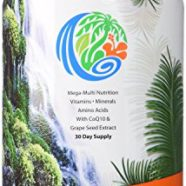 Tropical Oasis Mega Plus – Liquid Multivitamin and Mineral Supplement – Includes 85 Vitamins & Minerals, 20 Amino Acids + CoQ10, Grape Seed Extract & Organic Aloe Vera — 32oz, 32 servings
