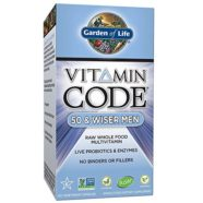 Garden of Life Multivitamin for Men – Vitamin Code 50 & Wiser Men's Raw Whole Food Vitamin Supplement with Probiotics, Vegetarian, 120 Capsules