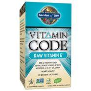 Garden of Life Vitamin Code – Raw Vitamin E, 60 Count