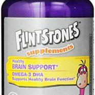 Flintstones Omega Gummies Supplement, Brain Support, 80 Count