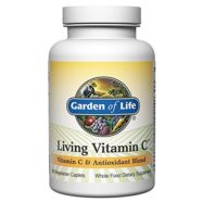 Garden of Life Non-GMO Vitamin C Supplement – Living Vitamin and Antioxidant Whole Food Nutrition Vegetarian, 60 Caplets