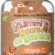 Yummi Bears Organics Vegetarian Vitamin-C Supplement for Kids, Gummy Bears, 60 Count