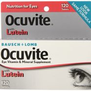 Bausch & Lomb Ocuvite Vitamin & Mineral Supplement Tablets for Eyes, 120-Count Bottles (Pack of 2)