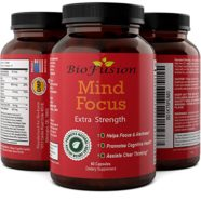 Improve Memory + Enhance Mind Power -Best Natural Brain Boosting Supplement -Top Concentration Enhancing Vitamin Pills for Better Mental Clarity – Boost Cognitive Function + Focus – Biofusion
