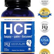 HCF Happy Calm Focused Brain Supplement – Amino Acids, Vitamins and Minerals for Memory, Attention, Focus, Mood, Concentration, Sleep, Energy, Confidence and Hormone Balance