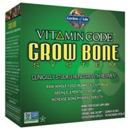 Garden of Life Vitamin Code Grow Bone System, (Raw Calcium 150 Vegetarian and Growth Factor S 90 Vegetarian Capsules)