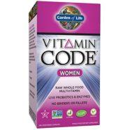 Garden of Life Vitamin Code Women's Multivitamin Supplement, 240 Count