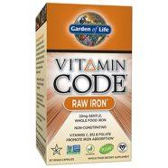 Garden of Life Vitamin Code, Raw Iron, 30 Capsules