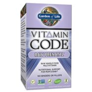 Garden of Life Prenatal Vitamins – Vitamin Code Raw Prenatal Whole Food Vitamin Supplement for Mom and Baby, Vegetarian, 30 Capsules
