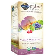 Garden of Life Multivitamin for Women – mykind Organic Women's Once Daily Whole Food Vitamin Supplement, Vegan, 60 Tablets