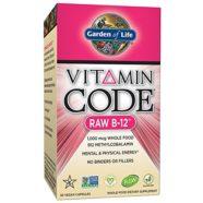 Garden of Life Vitamin B12 – Vitamin Code Raw B12 Whole Food Supplement, 1000 mcg, Vegan, 30 Capsules